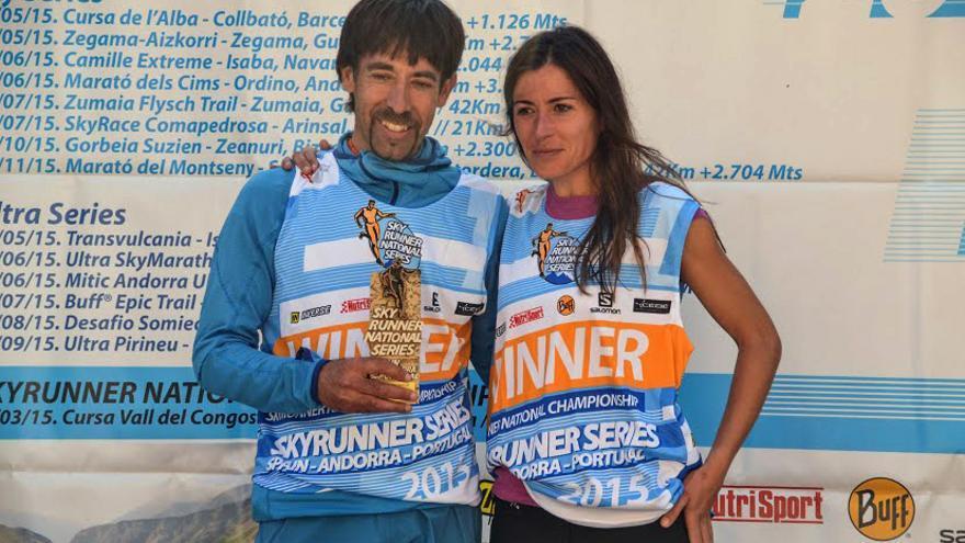 Ferran Teixidó y Vanesa Ortega, ganadores de las Vertical Series de las Skyrunner National Series.
