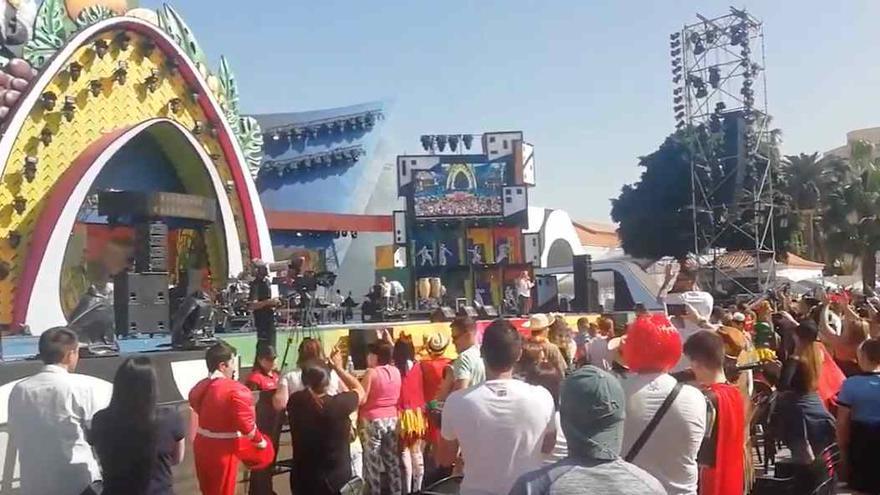 El escenario del Parque Santa Catalina, poco después de la expulsión de Manny Manuel