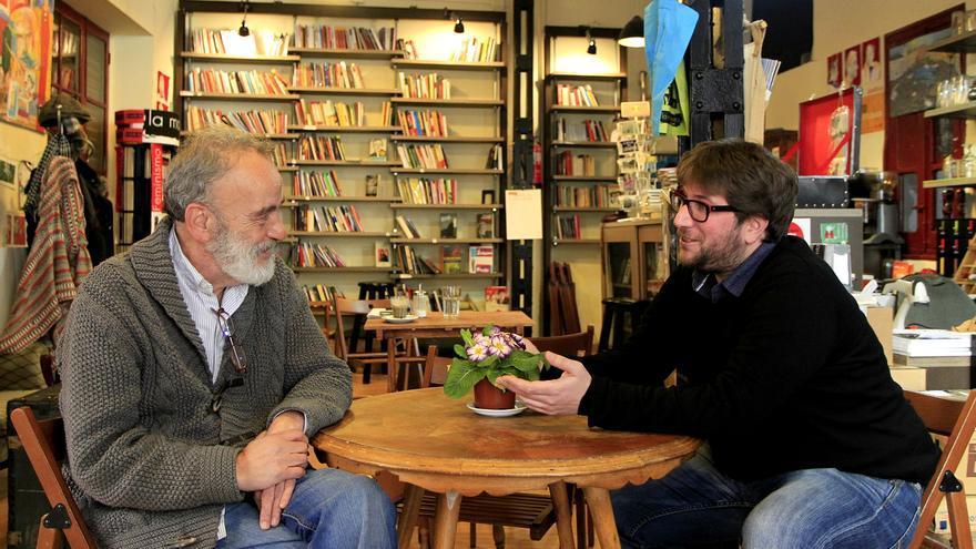 Miguel Urban y Luis Montes, candidatos al Consejo Ciudadano de Madrid de Podemos. / Marta Jara