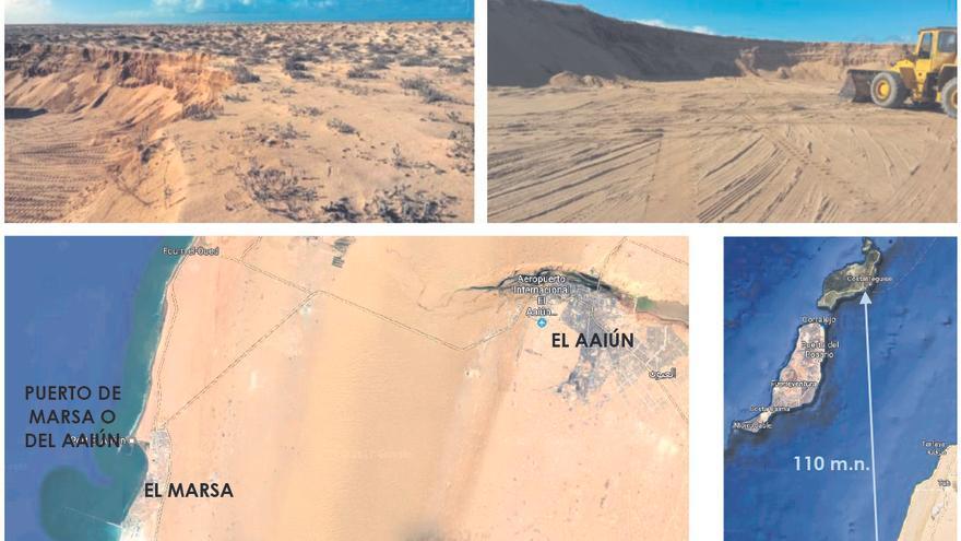 Extracto de la Memoria de los proyectos de las las playas artificiales que indica el lugar de extracción