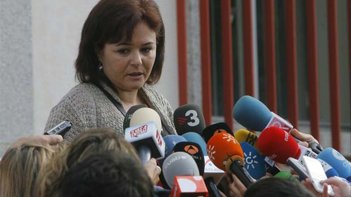 Ruth Ortiz, madre de los pequeños Ruth y José, atiende a los medios antes del juicio a José Bretón   MADERO CUBERO