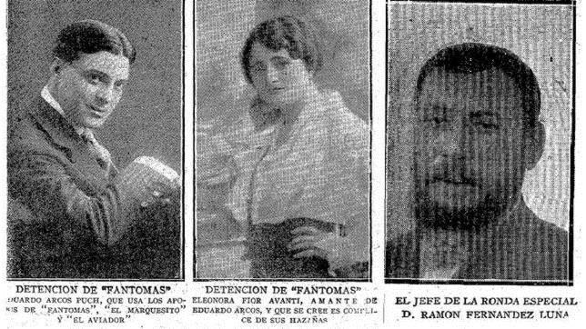 Eduarco Arcos, Leonor Fioravanti y el comisario Fernández-Luna| Diario ABC