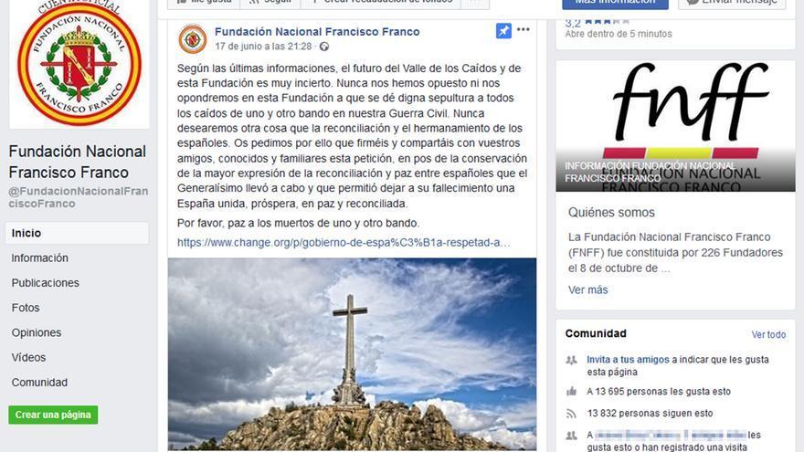 """La Fundación Franco reconoce su """"futuro muy incierto""""."""