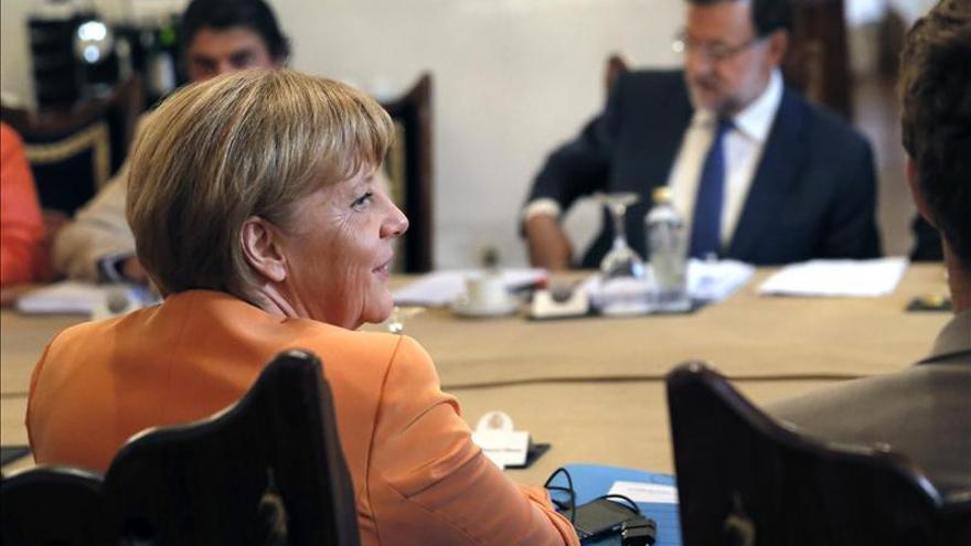 Angela Merkel y Mariano Rajoy. / Efe