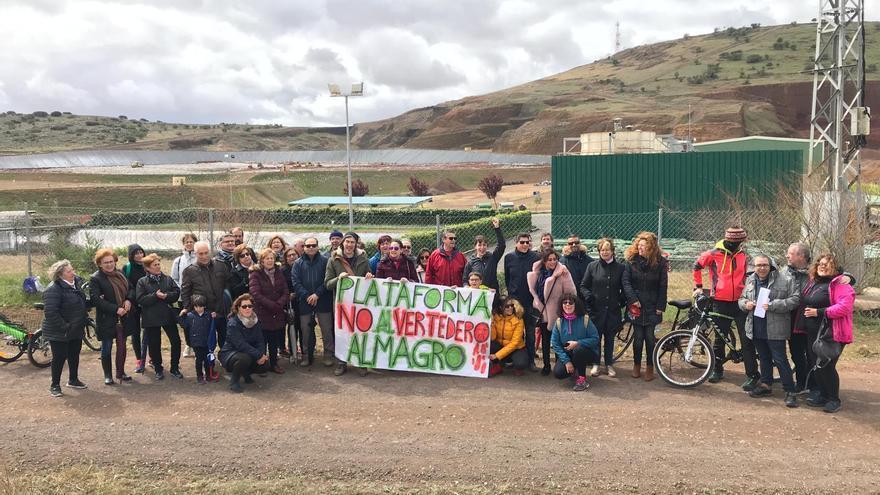 Marcha al vertedero de Almagro el pasado domingo