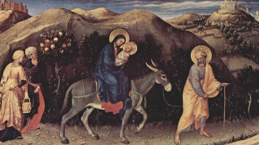 Huida a Egipto (1423) - Gentile da Fabriano