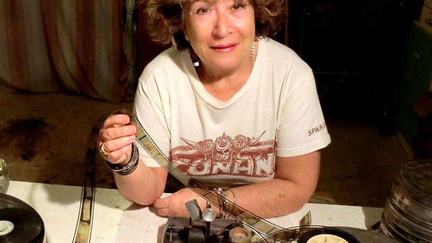 La editora y técnico de efectos especiales María Luisa Pino