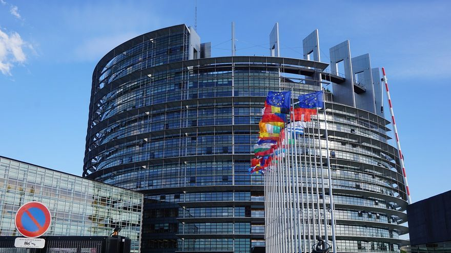 Sede del Parlamento Europeo, en Estrasburgo.