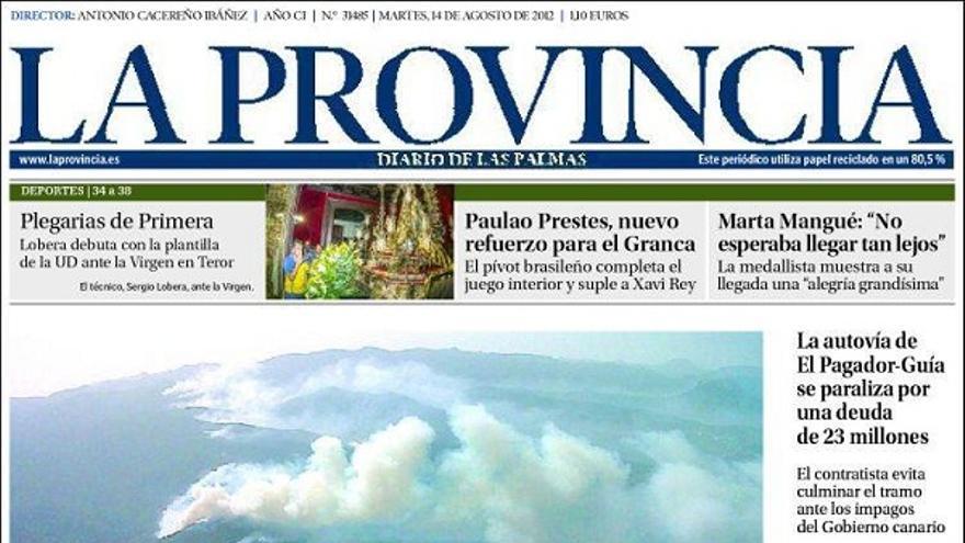 De las portadas del día (14/08/2012) #1