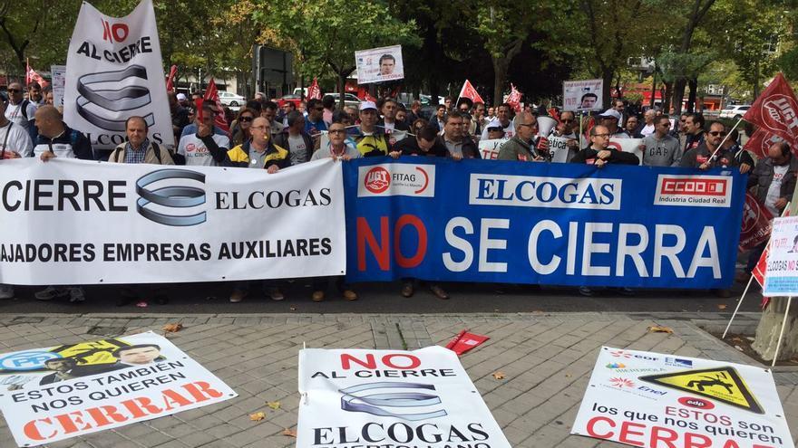 Manifestación de trabajadores de Elcogas ante el Ministerio de Industria / CCOO
