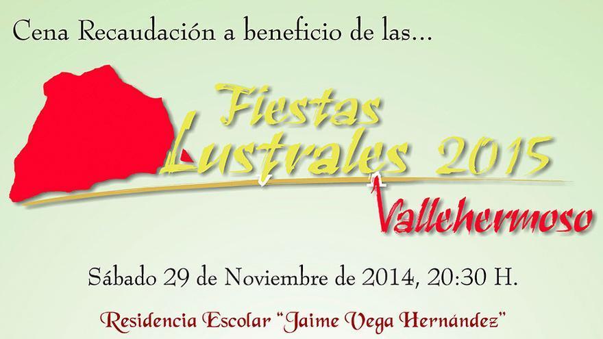 Cena recaudación a beneficio de las Fiestas Lustrales 2015 Vallehermoso