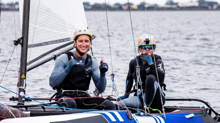 Tara Pacheco y Florián Trittel en el pasado campeonato del Mundo de Australia.