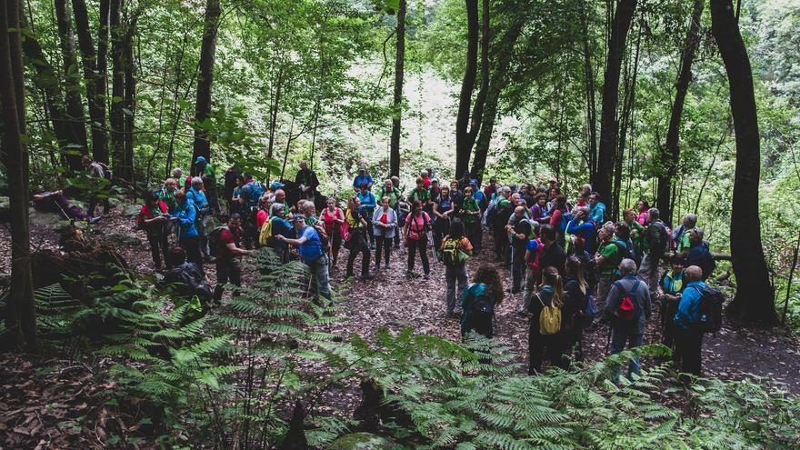 Imagen de archivo de un encuentro de senderistas.