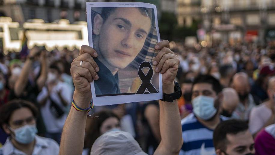 Protesta en Madrid por el asesinato de Samuel Luiz