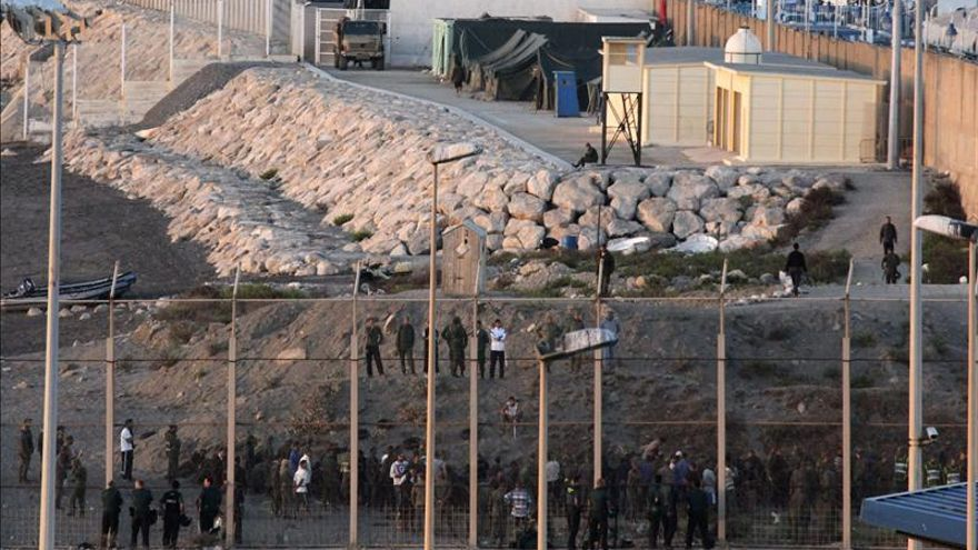 Imagen de la frontera de Ceuta.