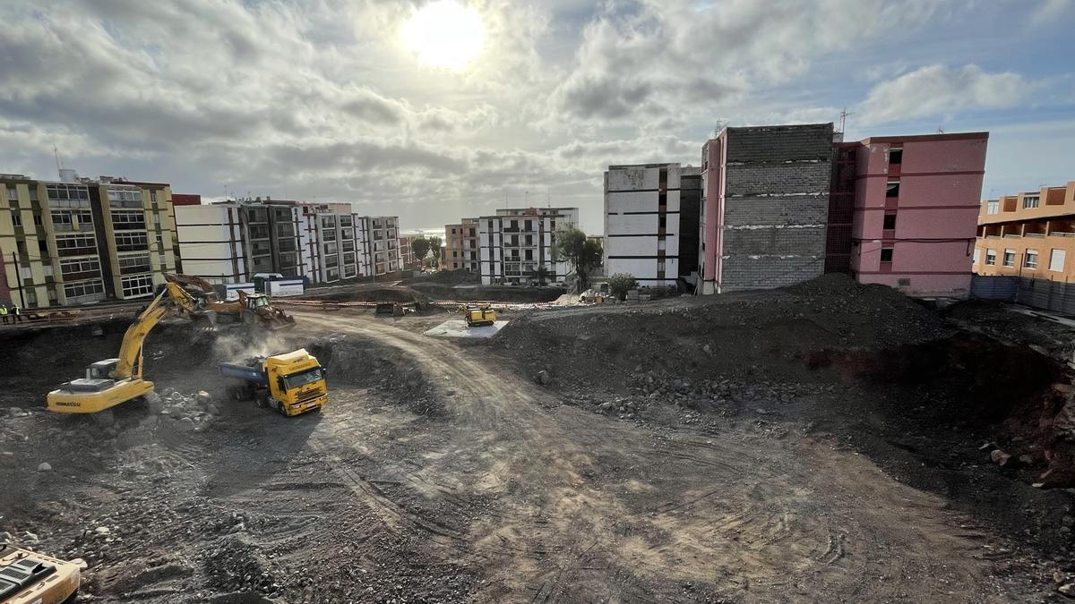 Trabajos de excavación en Las Chumberas
