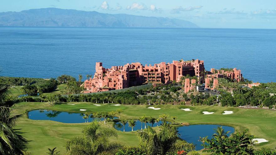 Vista del campo de golf del hotel Abama, en Tenerife