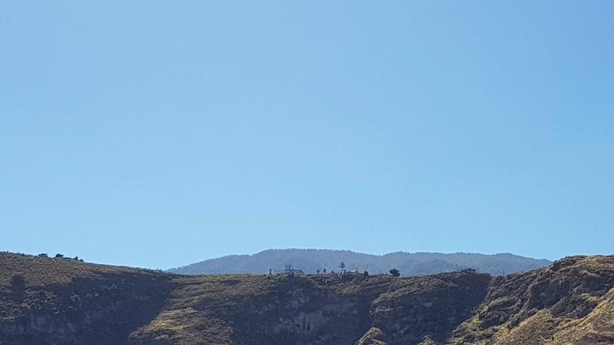 Cielo despejado en La Palma.