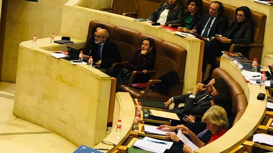 Pleno del Parlamento de Cantabria.