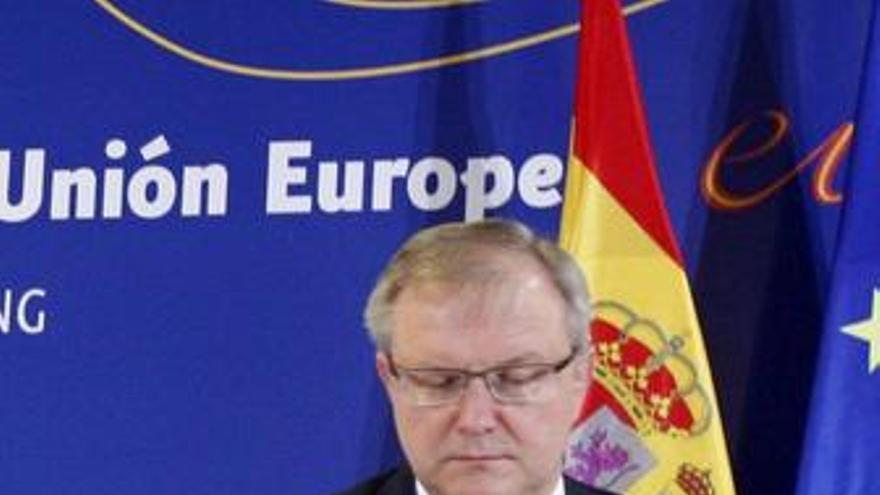 El Comisario De Asuntos Económicos Y Monetarios, Olli Rehn