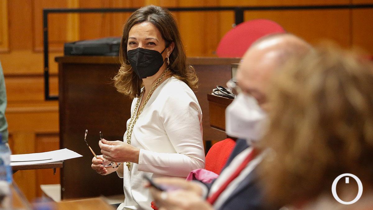 Concejales del PSOE junto a Ambrosio en el último Pleno