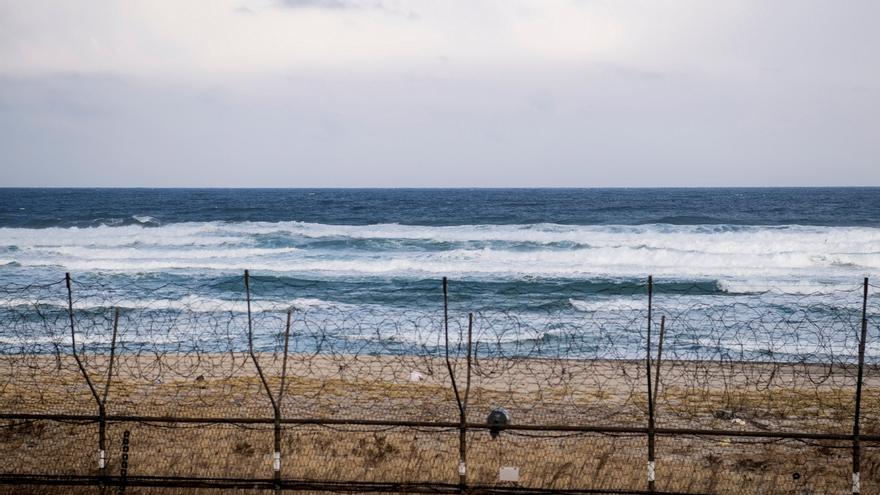 Vista de la costa norcoreana en la zona desmilitarizada (DMZ) en Corea del Sur.
