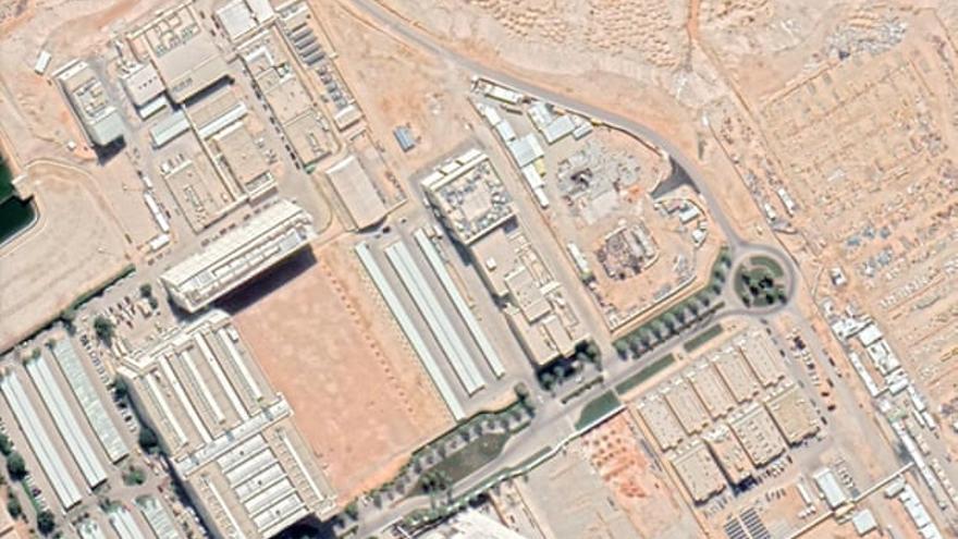 Imagen aérea del reactor nuclear en construcción en Arabia Saudí.