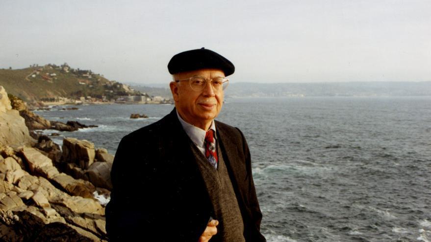 El poeta Gonzálo Rojas en Viña del Mar