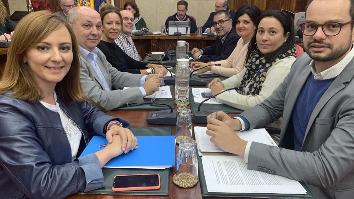 Imagen de archivo del grupo de CC en el Cabildo de La Palma.