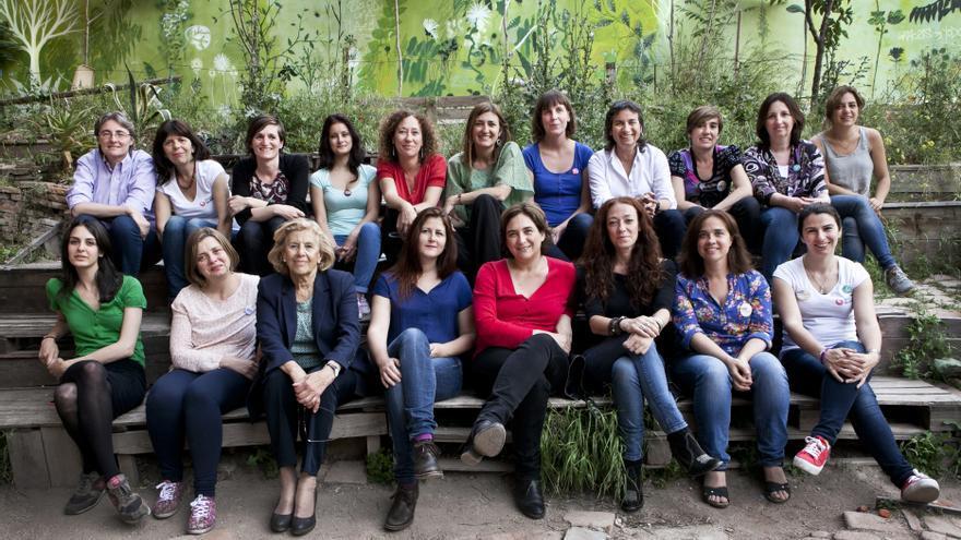Grupo de Mujeres municipalistas.  Foto: Elvira Megías (Ahora Madrid)