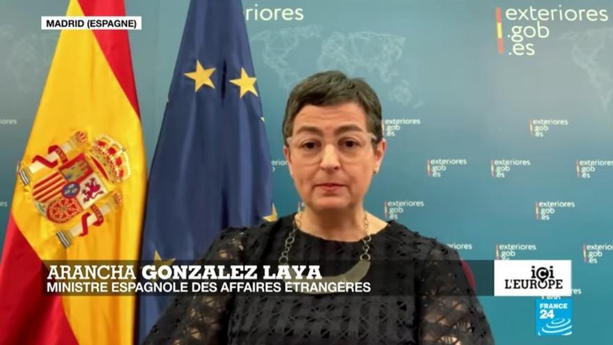 González Laya cree que la desescalada en España es compatible con la coordinación en la UE