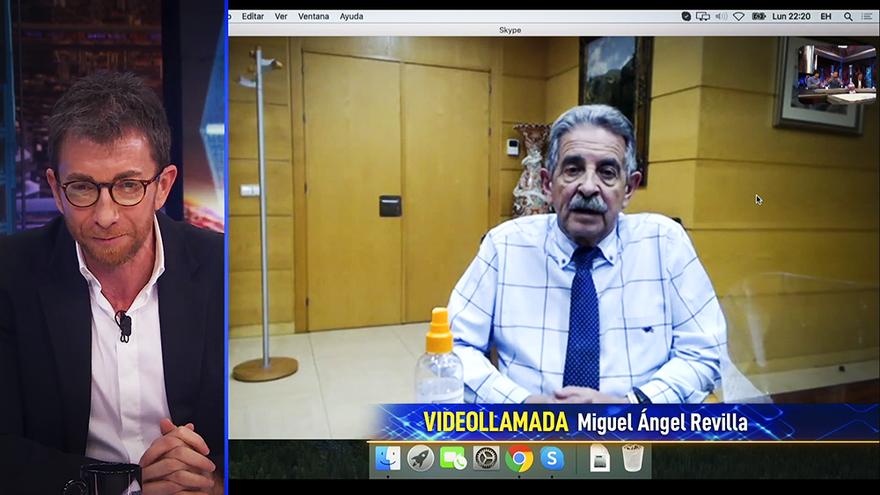 Pablo Motos habló con Miguel Ángel Revilla por videoconferencia