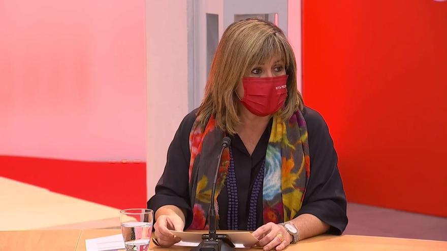 La presidenta de la Diputación de Barcelona y alcaldesa socialista de L'Hospitalet de Llobregat (Barcelona), Núria Marín, durante un acto de campaña del PSC.