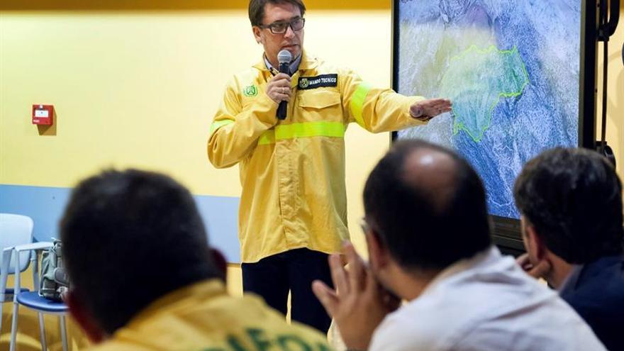 José María Sánchez, miembro de Brigada Forestal (Brifor) del Cabildo y director del dispositivo