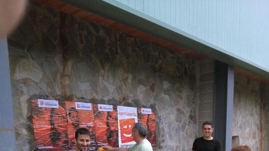 Vicent Marzà, durante la campaña electoral.