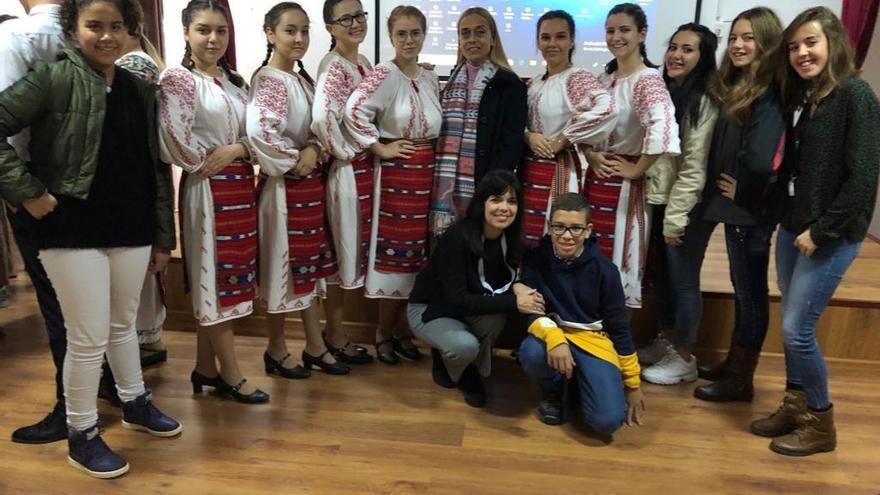 Alumnos del IES Teobaldo Power en Rumanía, en días de este mes de noviembre