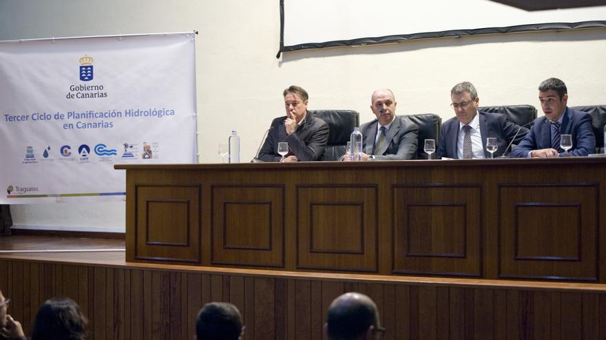 Un momento de la jornada denominada 'Tercer ciclo de Planificación Hidrológica en Canarias, el perfeccionamiento de una política de Aguas'.