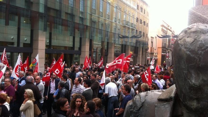 Protesta de empleados de Bankia en LPGC #11
