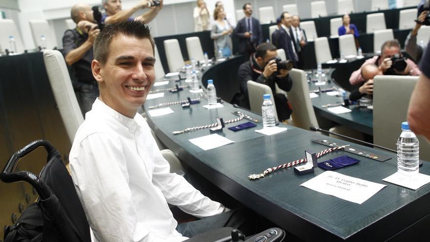 Pablo Soto, en su toma de posesión como concejal.