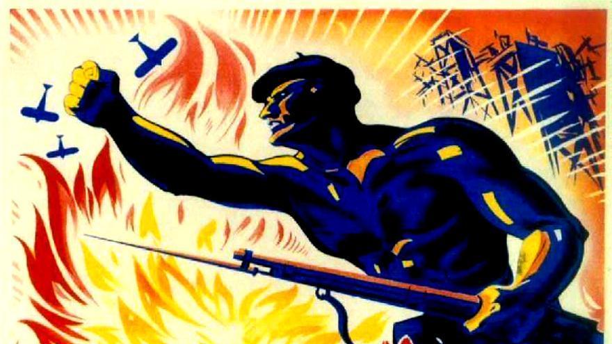 Cartel de Aguado sobre la revolución asturiana.