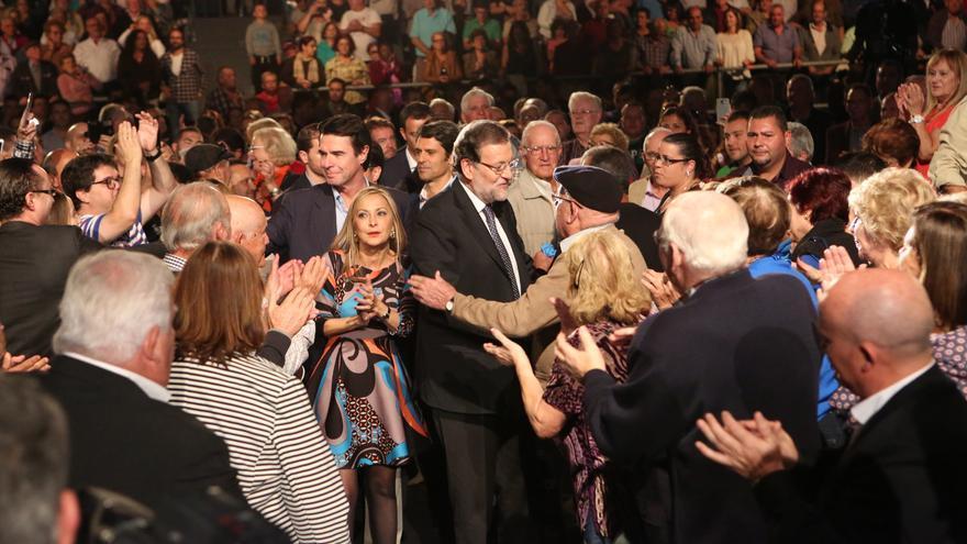 Mitin del presidente del Gobierno, Mariano Rajoy en Gran Canaria (ALEJANDRO RAMOS)