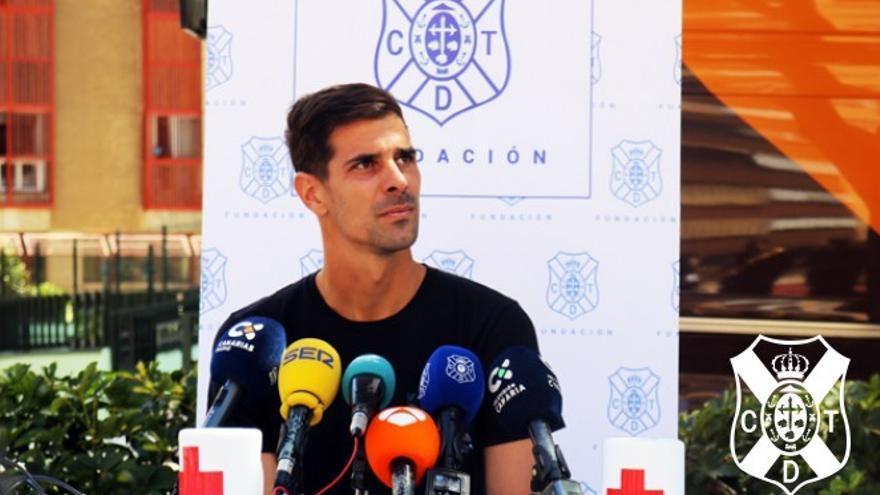 El portero del CD Tenerife, Dani Hernández
