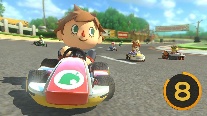 Mario Kart 8 Animal Crossing