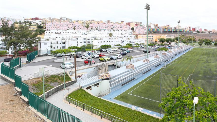 Actual zona de aparcamientos y campo de fútbol de Las Rehoyas.