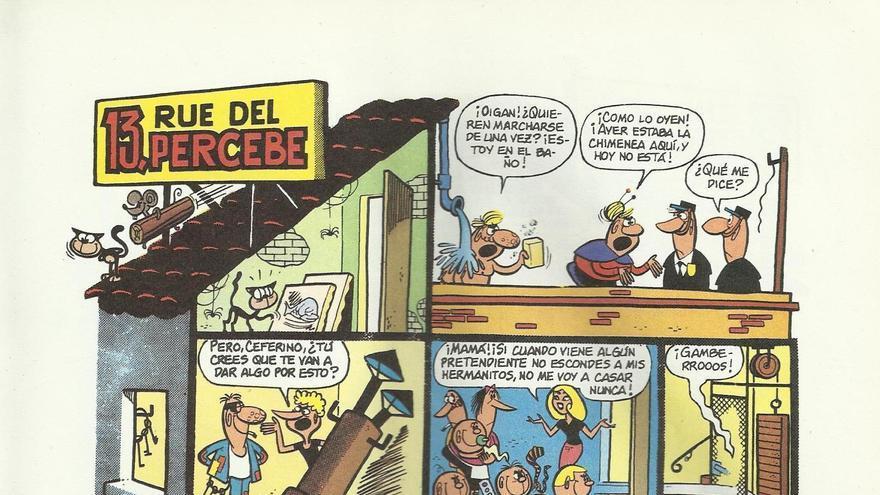 '13, Rue del Percebe' es un ejemplo claro de un cómic que juega con un elemento arquitectónico en su narrativa