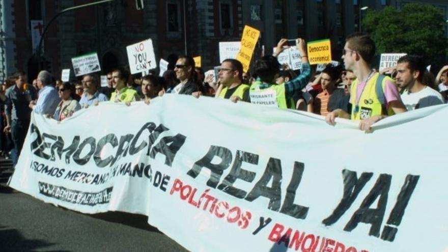 Una imagen de las movilizaciones de Democracia Real Ya