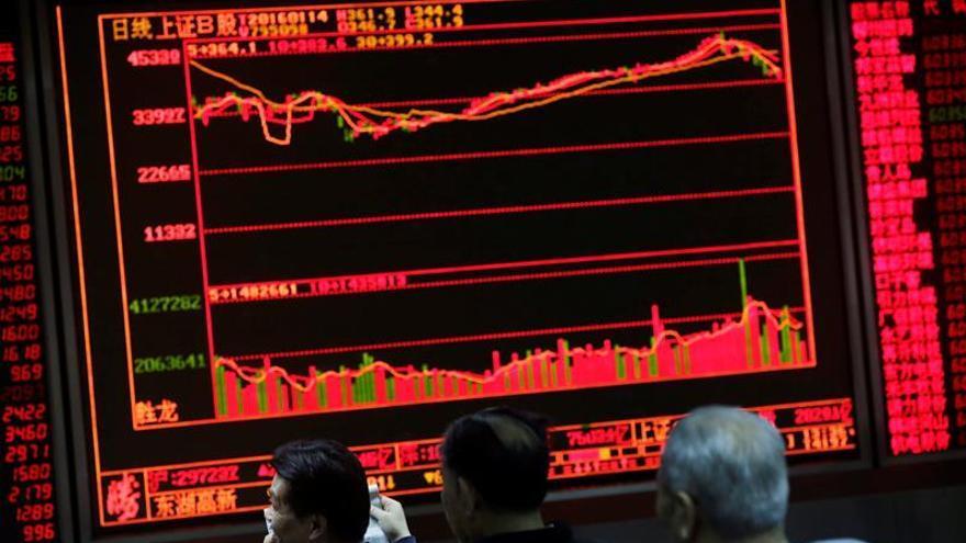 La Bolsa de Shanghái arranca en verde con una subida del 0,57 %
