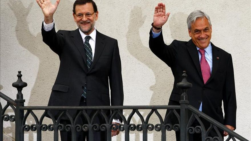 """Piñera da la bienvenida a Rajoy a """"un mundo mejor"""""""