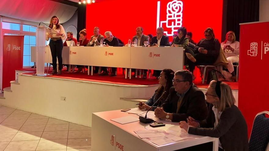 Archivo - Irene García, en el comité provincial del PSOE en Algeciras, en una imagen de archivo