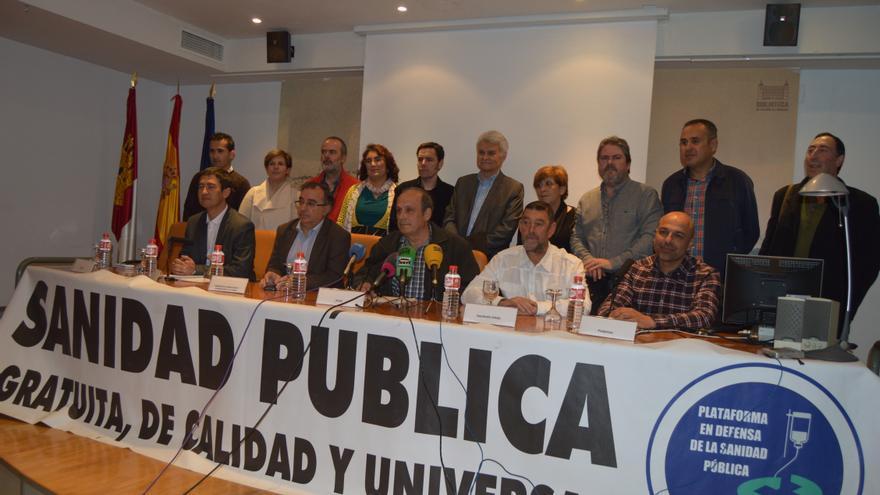 Firmantes del pacto por la sanidad pública de Toledo / Foto: Javier Robla